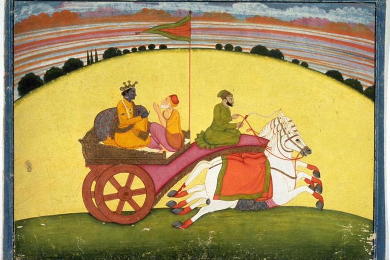 Krishna in a Carriage