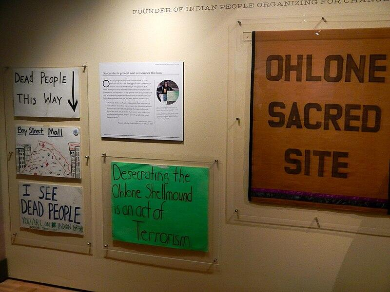 Ohlone Protest Signs